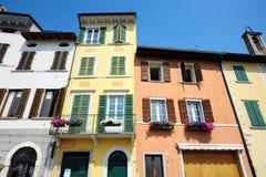 Casas coloridas em Italy foto de stock royalty free