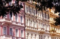 Casas coloridas em Praga Fotografia de Stock Royalty Free