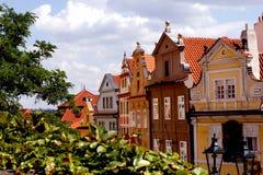 Casas coloridas em Praga Foto de Stock Royalty Free