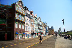 Casas coloridas en Atlantic City Fotos de archivo libres de regalías