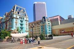 Casas coloridas en Atlantic City Foto de archivo libre de regalías