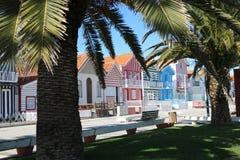 Casas coloridas en Portugal Fotografía de archivo