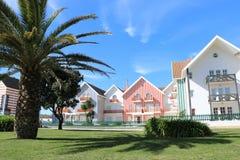 Casas coloridas en Portugal Foto de archivo libre de regalías