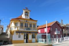 Casas coloridas en Portugal Imagen de archivo libre de regalías
