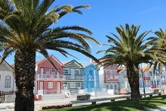 Casas coloridas en Portugal Fotos de archivo libres de regalías
