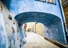 Casas coloridas en Varsovia fotos de archivo libres de regalías