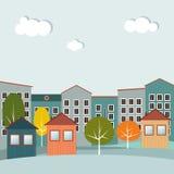 Casas coloridas para la venta/el alquiler Casas de las propiedades inmobiliarias?, planos para la venta o para el alquiler Imágenes de archivo libres de regalías