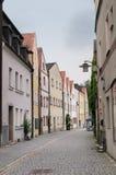 Casas coloridas, Weiden, Baviera, Alemania Fotos de archivo libres de regalías
