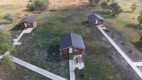 Casas com base em casas de resto para turistas e caçadores video estoque