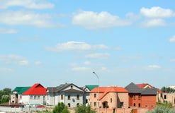 Casas com telhados da cor Imagem de Stock Royalty Free