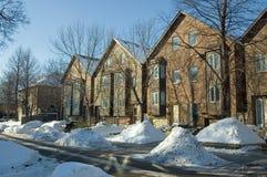 Casas confidenciais no tempo de inverno Imagem de Stock
