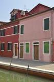 Casas cor-de-rosa e vermelhas Fotos de Stock