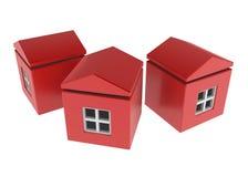 Casas da caixa Imagens de Stock Royalty Free
