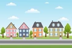Casas da cidade Foto de Stock Royalty Free