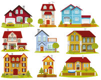 Casas da cidade ilustração stock