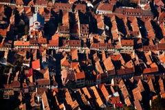Casas da cidade de cima de Imagem de Stock Royalty Free