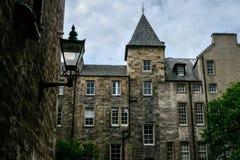 Casas da cidade de Edimburgo foto de stock