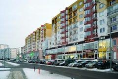 Casas da cidade de Vilnius na cidade de Nord do distrito de Zirmunai Imagens de Stock