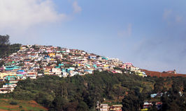 Casas da cidade do monte de Ooty Imagem de Stock Royalty Free