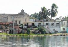Casas da degradação em Cuba Fotografia de Stock Royalty Free