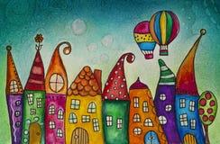 Casas da fantasia ilustração do vetor
