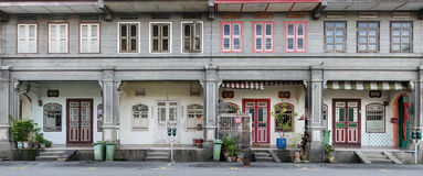 Casas da herança, George Town, Penang, Malásia Fotografia de Stock