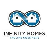 Casas da infinidade do logotipo ilustração royalty free
