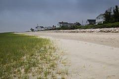 Casas da linha costeira do oceano Foto de Stock Royalty Free