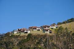 Casas da montanha   Imagem de Stock