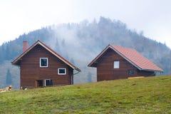 Casas da montanha fotografia de stock