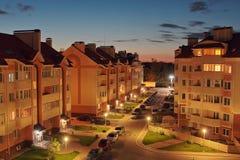 Casas da noite Fotografia de Stock Royalty Free
