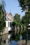 Casas da parede em Amersfoort Fotografia de Stock