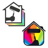 Casas da pintura do negócio do projeto Imagens de Stock Royalty Free