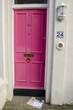 Casa cor-de-rosa da porta Fotos de Stock