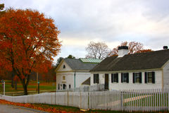 Casas da quinta, Nova Inglaterra imagens de stock