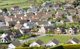 Casas da vista aérea, bairro social, desenvolvimento Fotografia de Stock Royalty Free