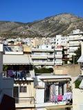 Casas de alta densidad de Atenas imágenes de archivo libres de regalías