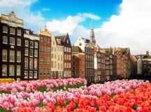 Casas de Amstardam, Países Bajos foto de archivo