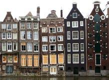 Casas de Amsterdão imagens de stock royalty free