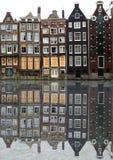 Casas de Amsterdão imagens de stock