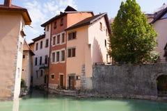 Casas de Annecy Imagen de archivo libre de regalías