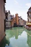 Casas de Annecy Foto de archivo libre de regalías