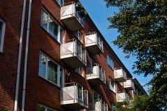 Casas de apartamento Imágenes de archivo libres de regalías