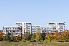 Casas de apartamento residenciais modernas Fotografia de Stock
