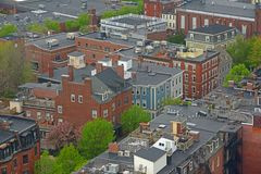 Casas de Boston Charlestown, Massachusetts, EUA fotos de stock royalty free