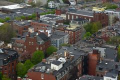 Casas de Boston Charlestown, Massachusetts, EUA Fotografia de Stock