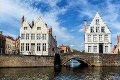 Casas de Bruges Bruges, Bélgica foto de stock
