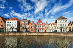 Casas de Bruges Bruges, Bélgica foto de stock royalty free