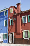 Casas de Burano Fotografía de archivo libre de regalías
