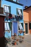 Casas de Burano Veneza Italy Imagem de Stock Royalty Free